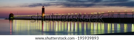 Grand Haven Panorama - stock photo