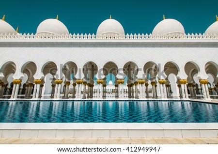 Grand Mosque in Abu Dhabi - stock photo