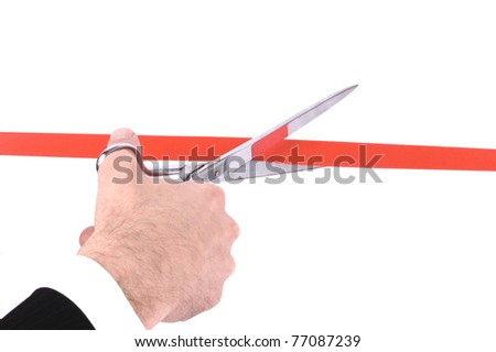 Grand opening ceremony or event , grand opening concept - stock photo