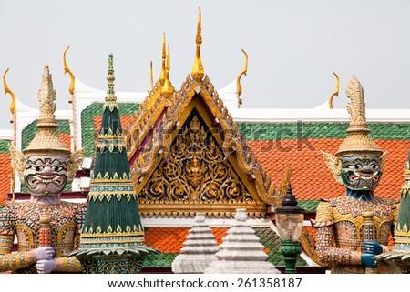 Grand Palace, Wat Phra Kaew, Bangkok. - stock photo