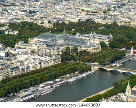 Grand Palais at Seine river (Paris, France) - stock photo