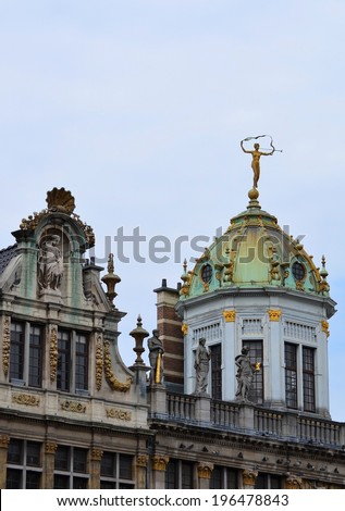 Grand Place Architecture Details - stock photo