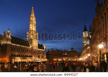 Grand Place or Grote Markt in Brussels, Belgium - stock photo