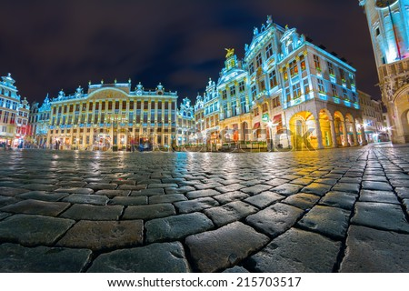 Grand Place, the focal point of Brussels, Belgium - stock photo