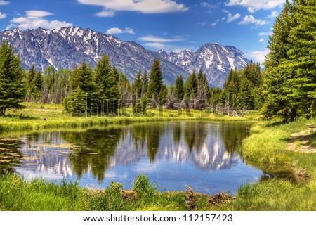 Grand Teton Mountains - stock photo