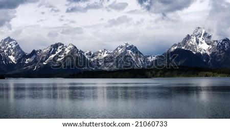 Grand Teton National Park, Wyoming, USA. Panoramic view - stock photo