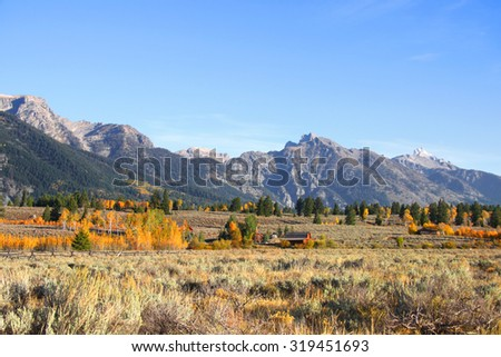 Grand Tetons national park - stock photo