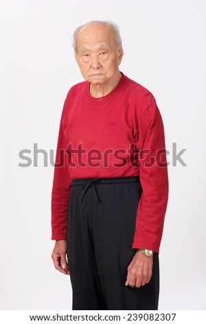 grandfather senior person handsome standing 80 to 90 years old - stock photo