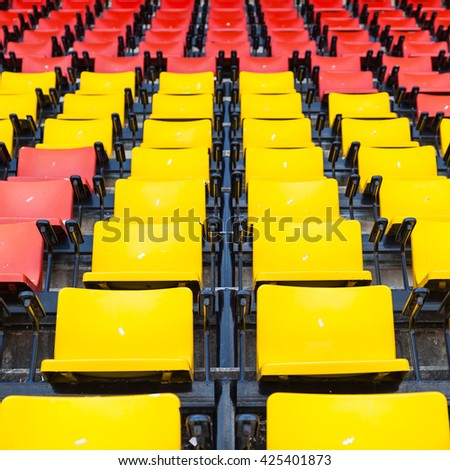 Grandstand Chairs - stock photo