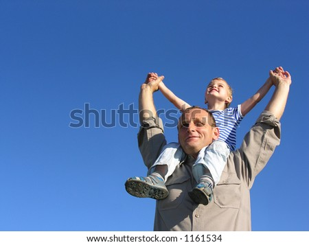 granfather with grandson - stock photo