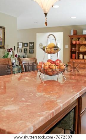 granite counter - stock photo