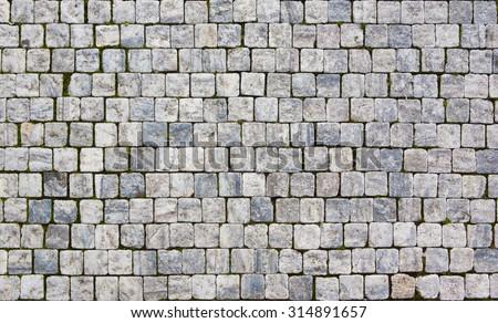 granite pavement - stock photo