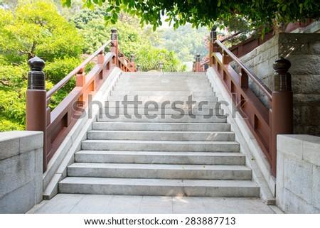 Granite stairs steps background - stock photo