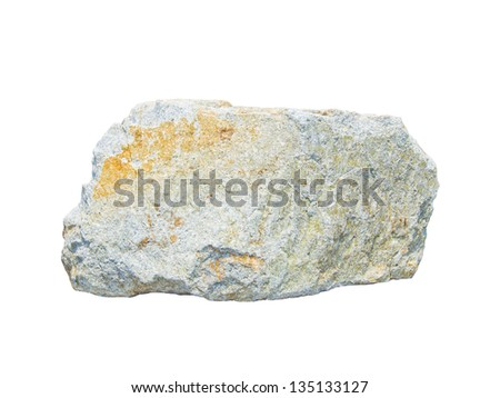 granite stone isolated on white - stock photo