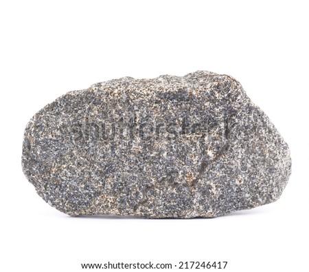 Granite stone isolated over the white background - stock photo