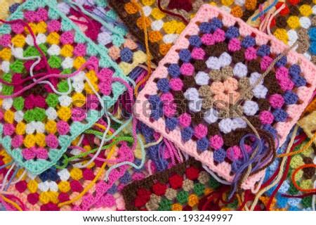Granny squares - stock photo