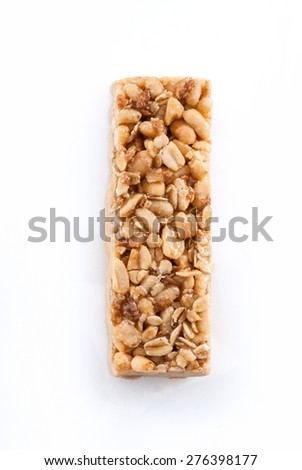 Granola Bar Isolated on White Background with Clipping Path - stock photo
