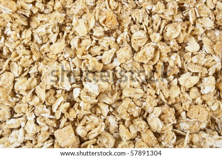 Granola Close Up - stock photo