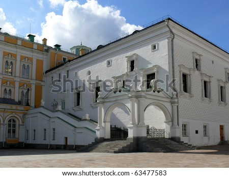 Granovitaya palata in Moscow Kremlin - stock photo