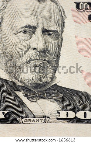 Grant on a $50 bill - stock photo