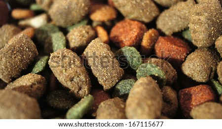 Granulated feed for cats and dogs - stock photo