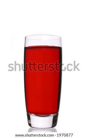 grape crush, a red colored shot - stock photo