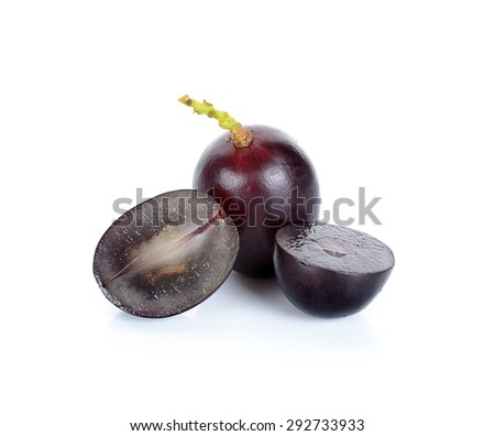 Grape isolated on the white background. - stock photo