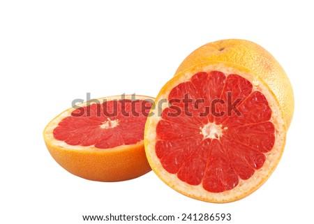 Grapefruits Isolated on white - stock photo