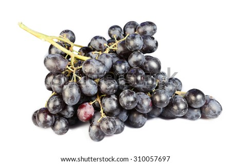Grapes cluster on a white background - stock photo