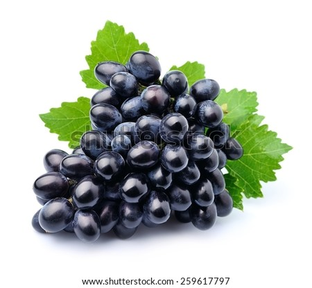 Grapes fruits isolated on white background . - stock photo