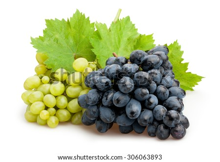 grapes isolated - stock photo