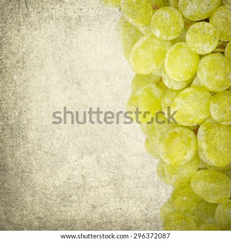 grapes isolated on retro background - stock photo