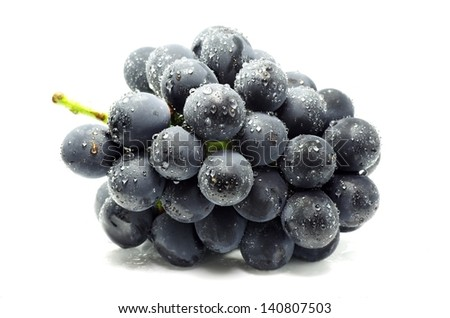 Grapes isolated on white. - stock photo