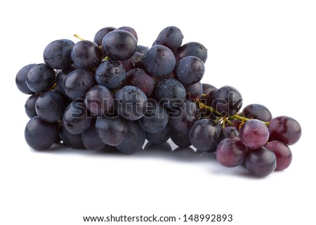 Grapes isolated on white background - stock photo