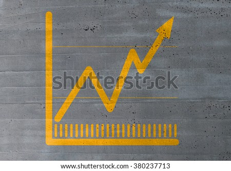 graph concept on cement texture background. - stock photo