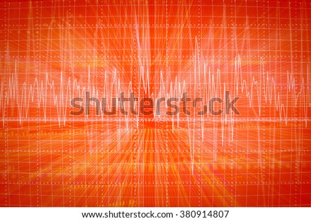 graph of heart beats on Healthcare and Medical background.jpg - stock photo