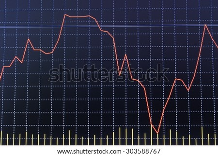 graph of stock market - stock photo