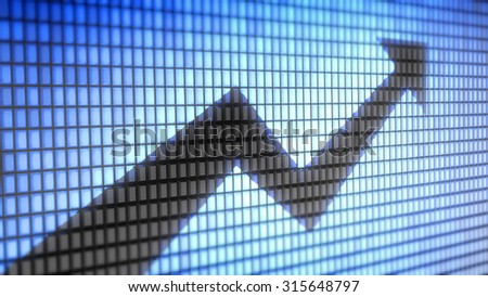 Graph. Proportion 16:9 - stock photo