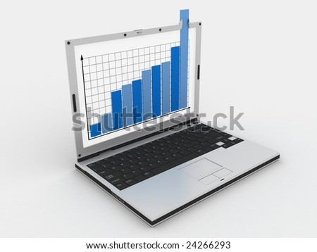 graph showing high growth anything - stock photo
