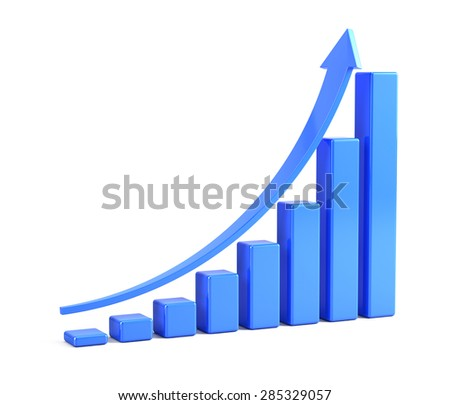 Graph up - statistics and analytics concept - stock photo