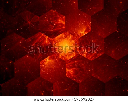 Graphene grid abstract background, nanotechnology - stock photo