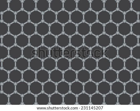 Graphene illustration - stock photo