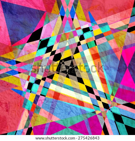 graphic a abstract background with geometric elements - stock photo
