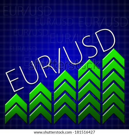 Graphic design trading related illustrating currency growth - stock photo