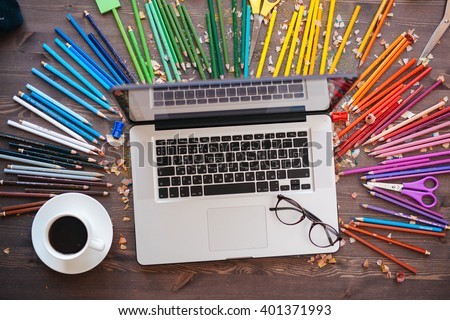 graphic designer at work color swatch samples stock photo