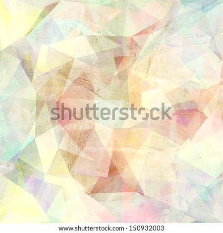 graphic geometric pattern with different colored triangles  - stock photo