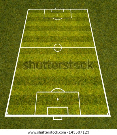 graphic of soccer field - stock photo