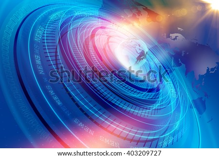 Graphical Modern Digital World News Studio Background, Abstract Digital World with Digital Binary Code Numbers Background . - stock photo