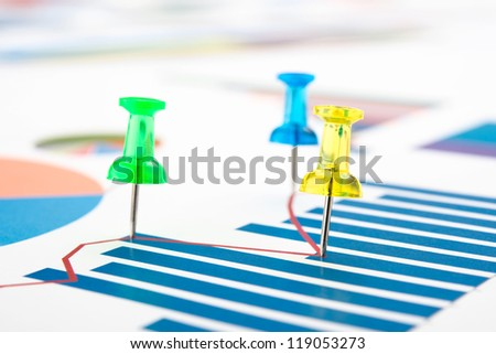 graphs and charts of stock market . - stock photo