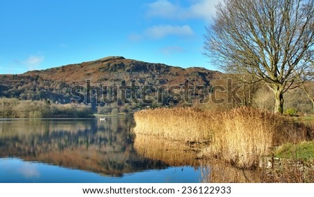 Grasmere Lake Early Morning - stock photo